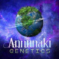 Annunaki Genetics logo cannabis planet in space