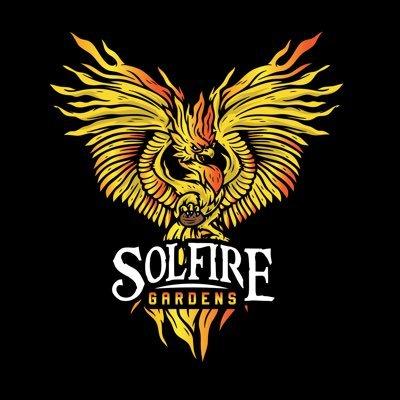 SolFire Gardens Logo with phoenix graphic