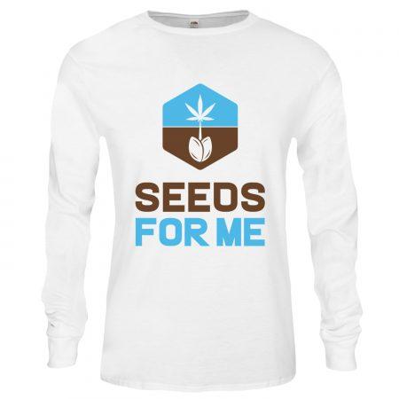 white seedbank logo shirt
