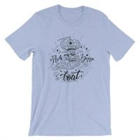 Float your boat ice blue mens tshirt