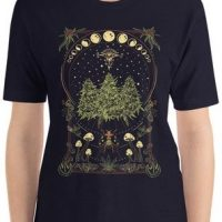 mens shrooms design cannabis tshirt