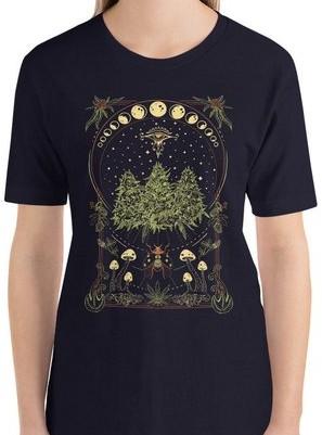 mens shrooms design cannabis tshirt