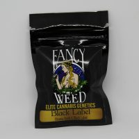 Cannabis seed packaging Black Label