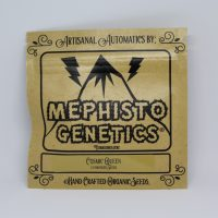 Cosmic Queen autoflower cannabis seeds mephisto genetics seed packaging