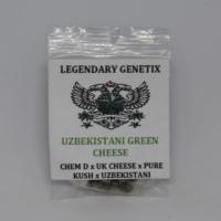 Uzbekistani Green Cheese rare marijuana seeds Snow High Genetics